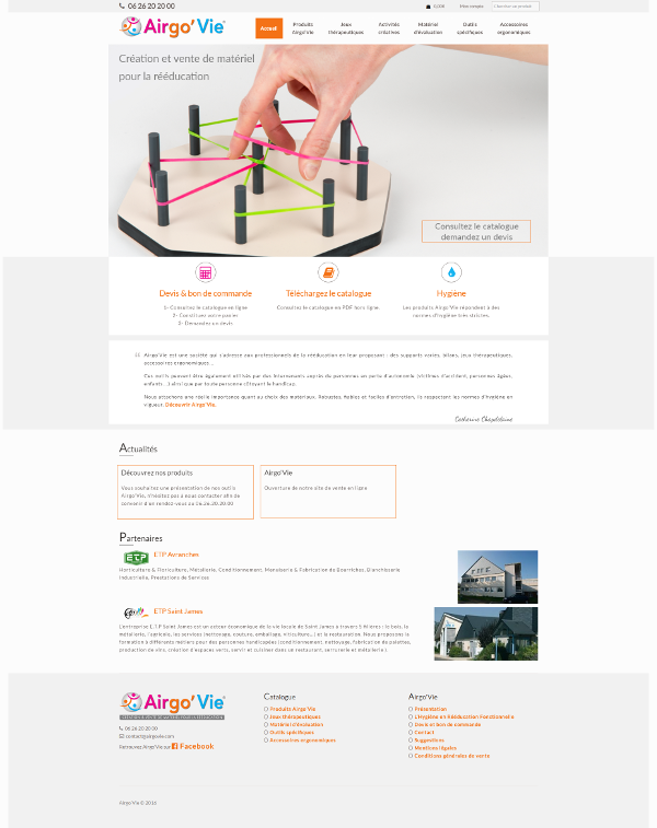 creation site internet manche airgovie